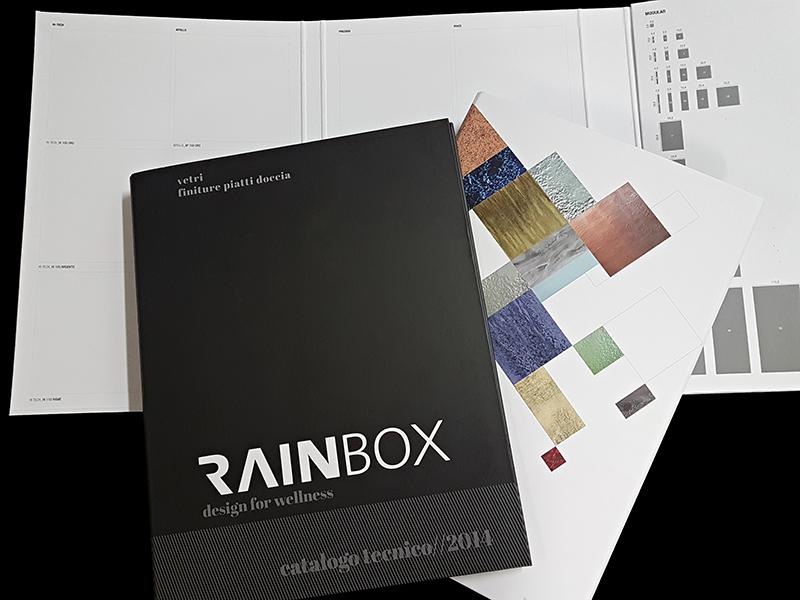 cartella personalizzata porta campioni con richiami stampati